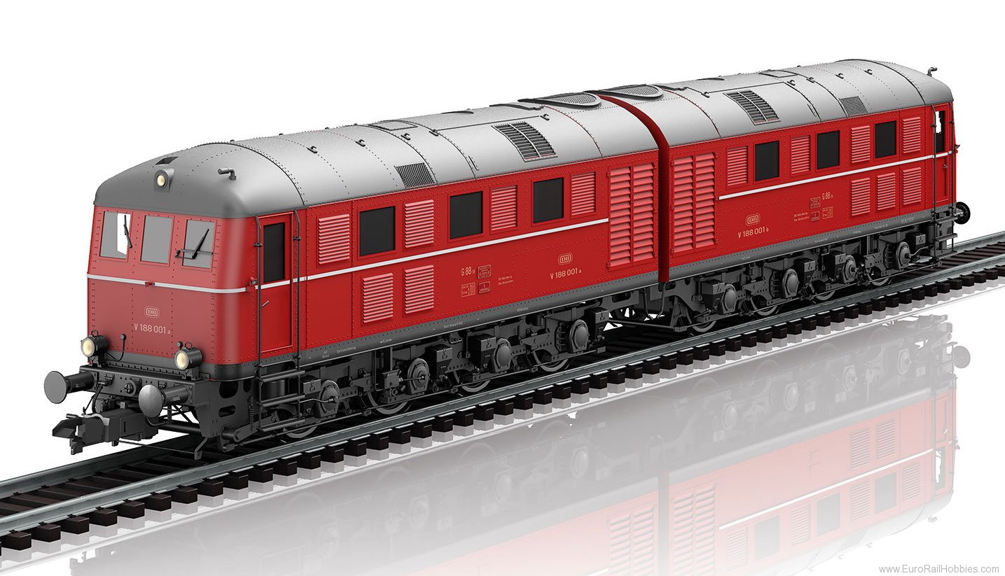 Marklin 55288 DB V 188 001 a/b Double Diesel Locomotive, (c