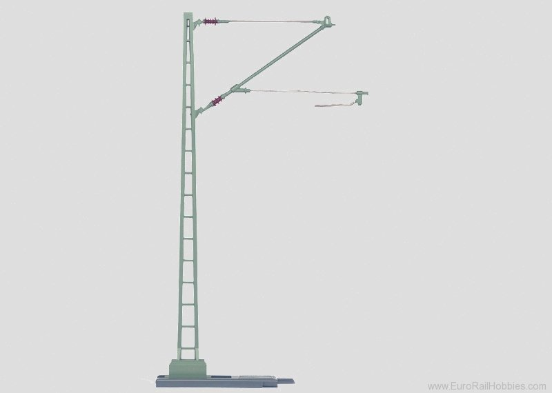 Marklin 5633 Catenary Feeder Mast Height 25.5 cm/10-1/16'