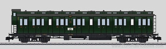 Marklin 58082 DRG Compartment Passenger Car w/Brakemans Cab