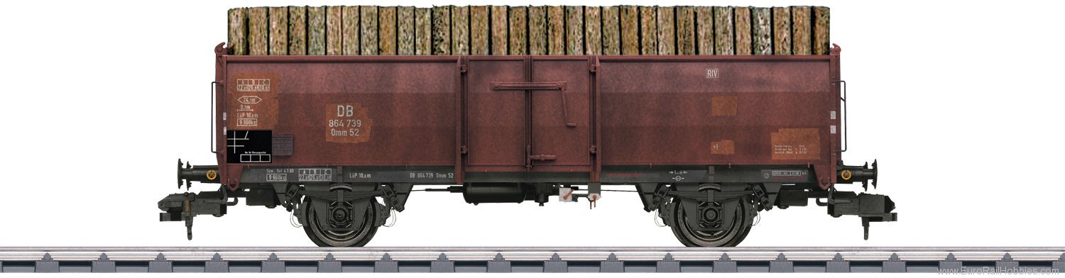Marklin 58307 DB Type Omm 52 Gondola (Weathered w/Load)