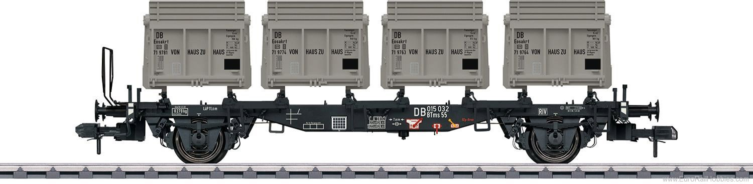 Marklin 58558 DB Type BTms 55 Container Transport Car