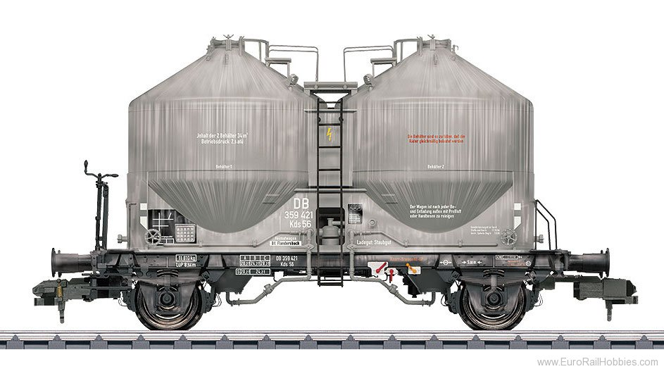 Marklin 58617 DB Type Kds 56 Powder Freight Silo Car