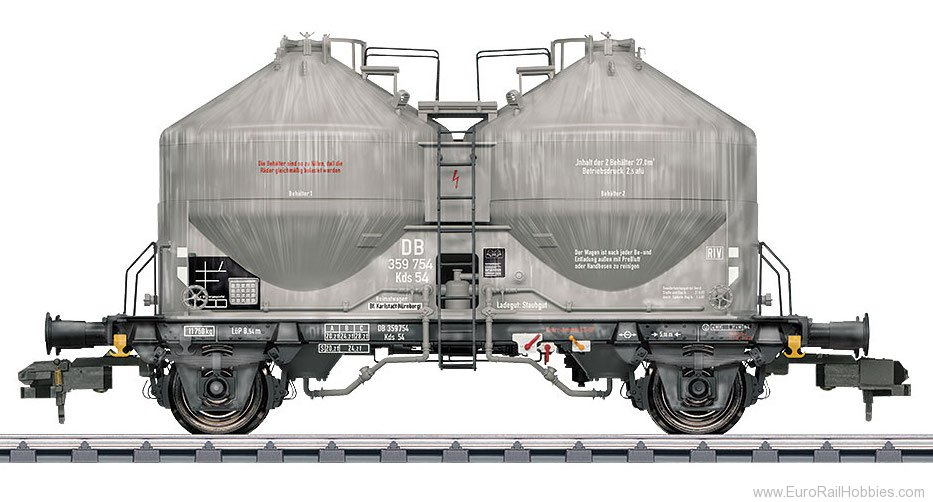 Marklin 58627 DB Type Kds 54 Powder Freight Silo Car