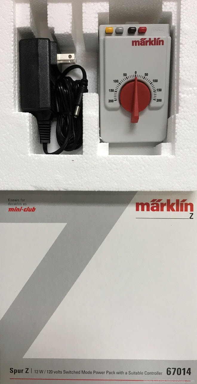 Marklin 67014 Z Power Pack with 120 Volt Current Supply