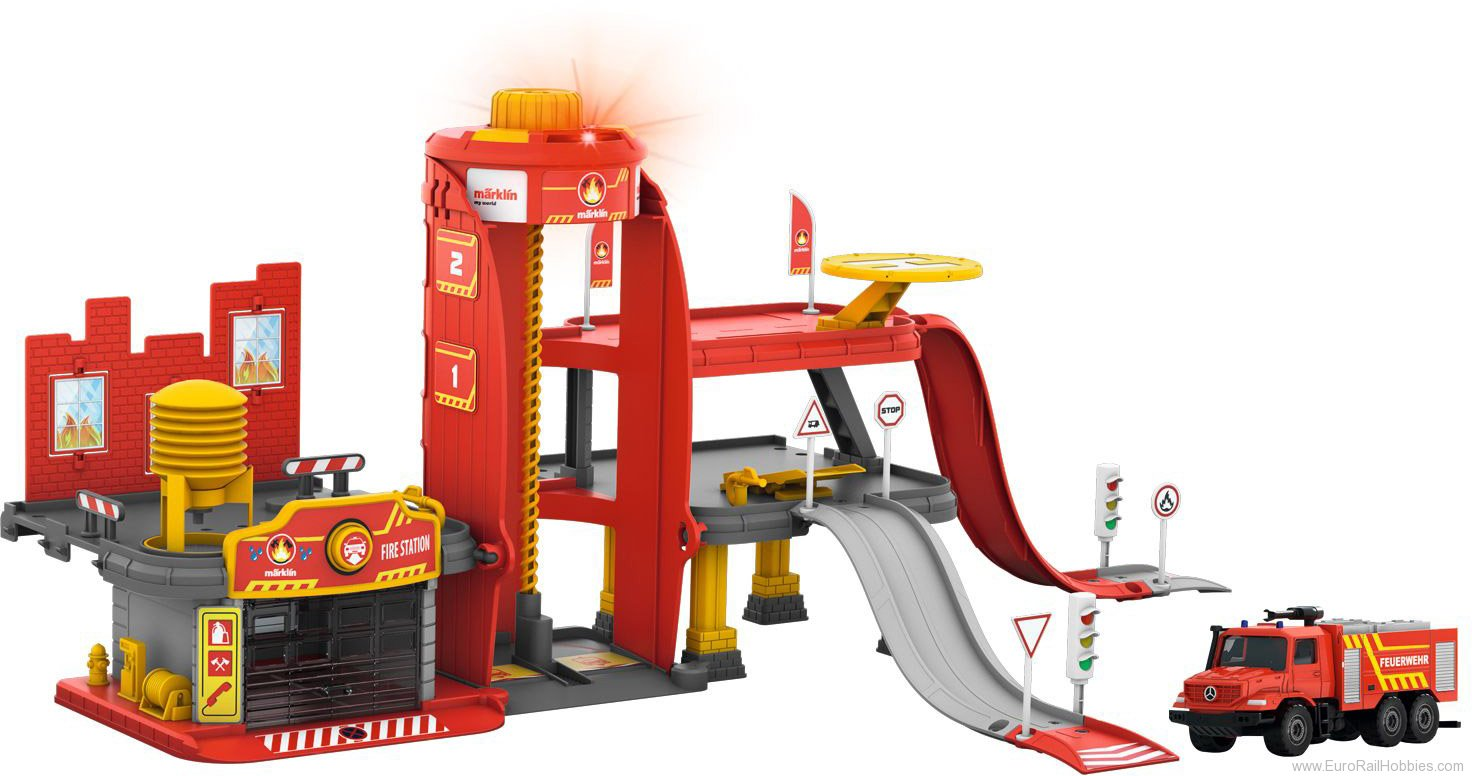 Marklin 72219 Marklin my world - Fire Station with Light an