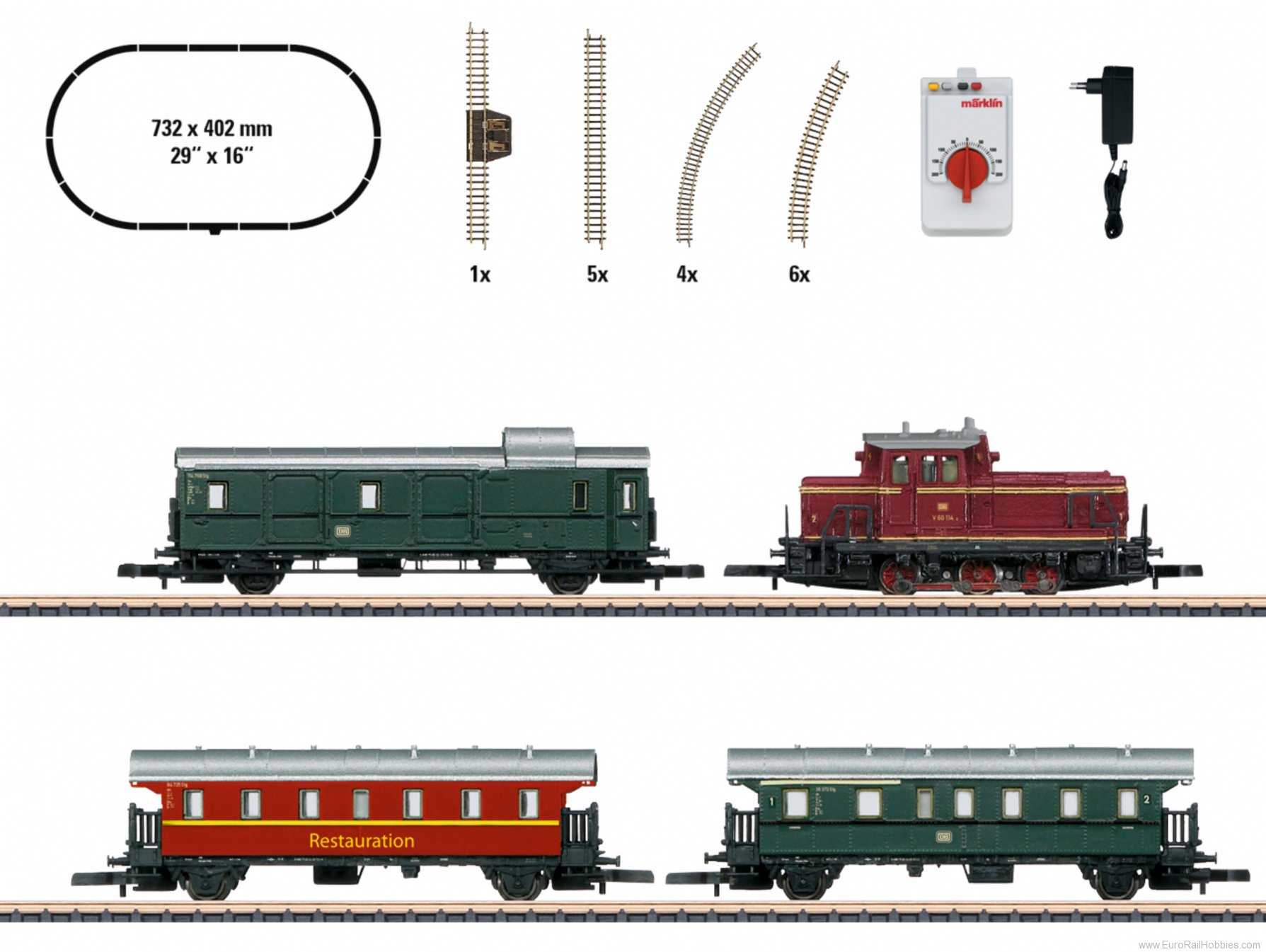 Marklin 81871 'Museum Passenger Train' Starter Set, (large