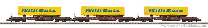 Marklin 82289 DB Deep Well Flat Car Set (Marklin MHI 2/2016