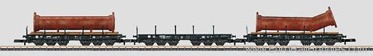 Marklin 82349 Heavy-Duty Flat Car Set with a Load of Flange
