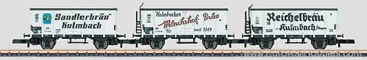 Marklin 86395 DB Beer Car Set. Consisting of 3 Cars