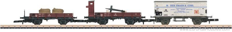Marklin 86581 DB Freight 3-Car Set, theme of Ship's Equipme