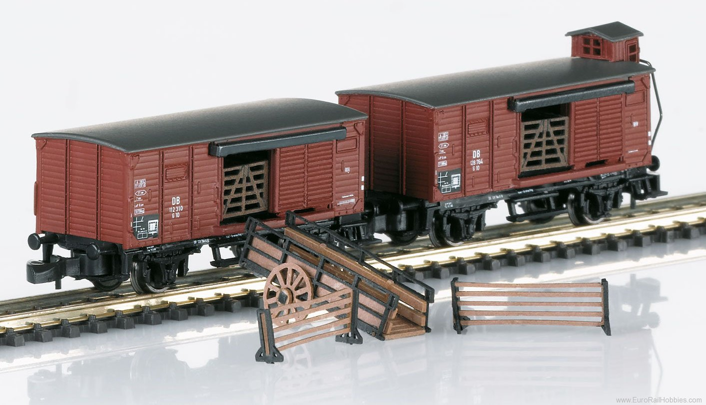 Marklin 86602 DB Livestock Transport 2-Car Set