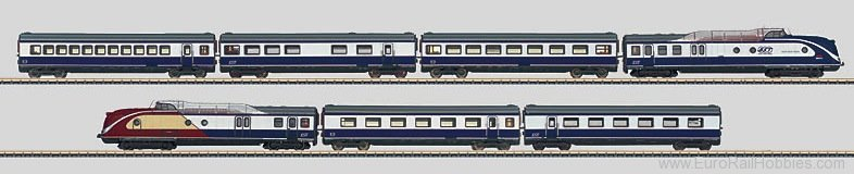 Marklin 88735 ''Blue Star Train'' Diesel Powered Rail Car T