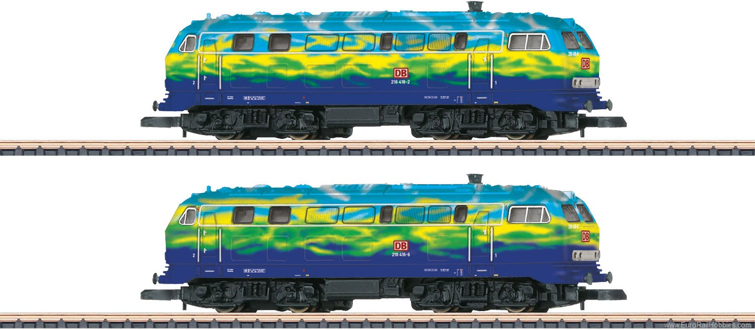 Marklin 88789 DB AG CL 218 Locomotive Set of Diesel Locomot