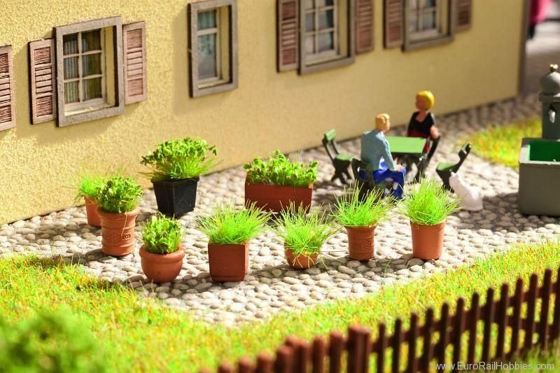 Noch 14032 Foliage plants in Flower Pots, 9 pcs.