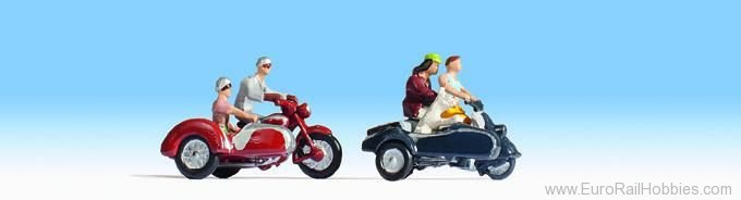 Noch 15905 Motorcyclists, 4 figures and accessories