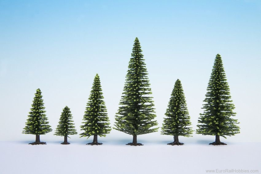 Noch 26926 Model Spruce Trees, 5 pcs., 5 - 9 cm high