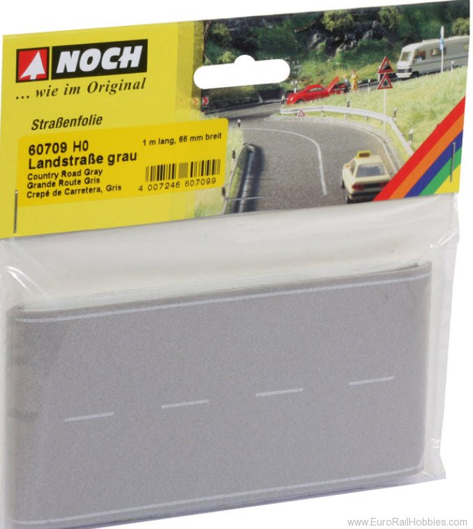 Noch 60709 Country Road Gray, 1 m Long, 66 mm Width