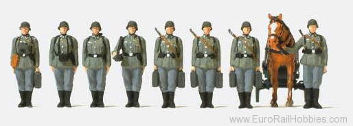Preiser 16585 Infantry with Mortar (unpainted)