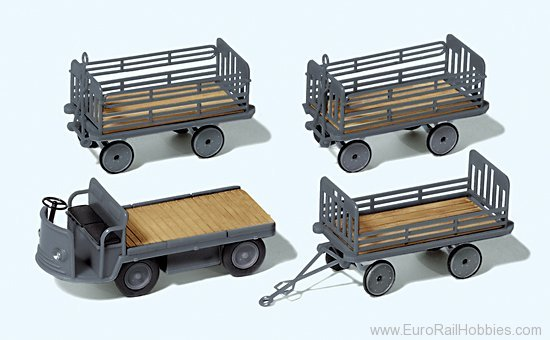 Preiser 17122 Electric vehicle with 3 trailers. German Rail