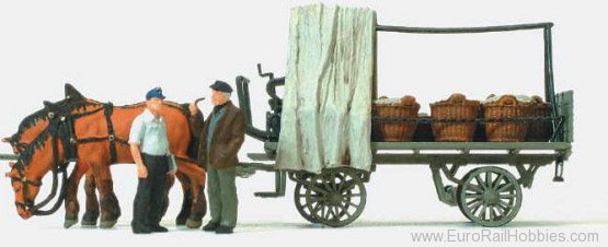 Preiser 30449 Wagon with Vegetable Load
