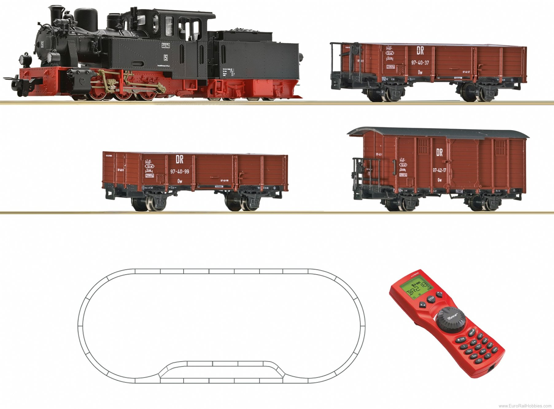 Roco 31031 H0e Digital z21 Start Set: Steam locomotive a