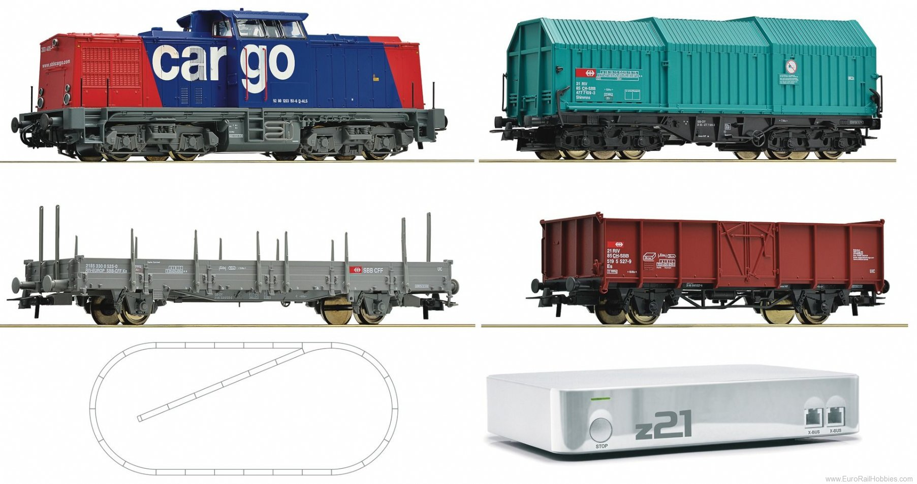 Roco 41503 Digital starter set z21 diesel locomotiveseri