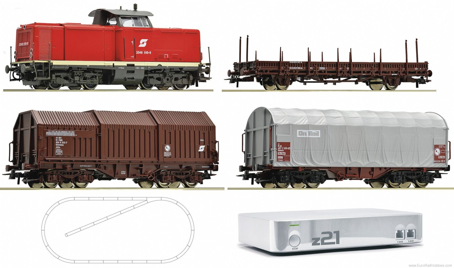 Roco 41505 Digital starter set z21 diesel locomotive ser