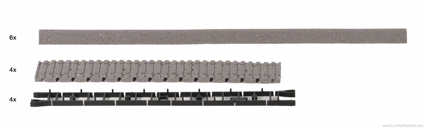 Roco 42660 Track bed  (RocoLine with Track Bed)