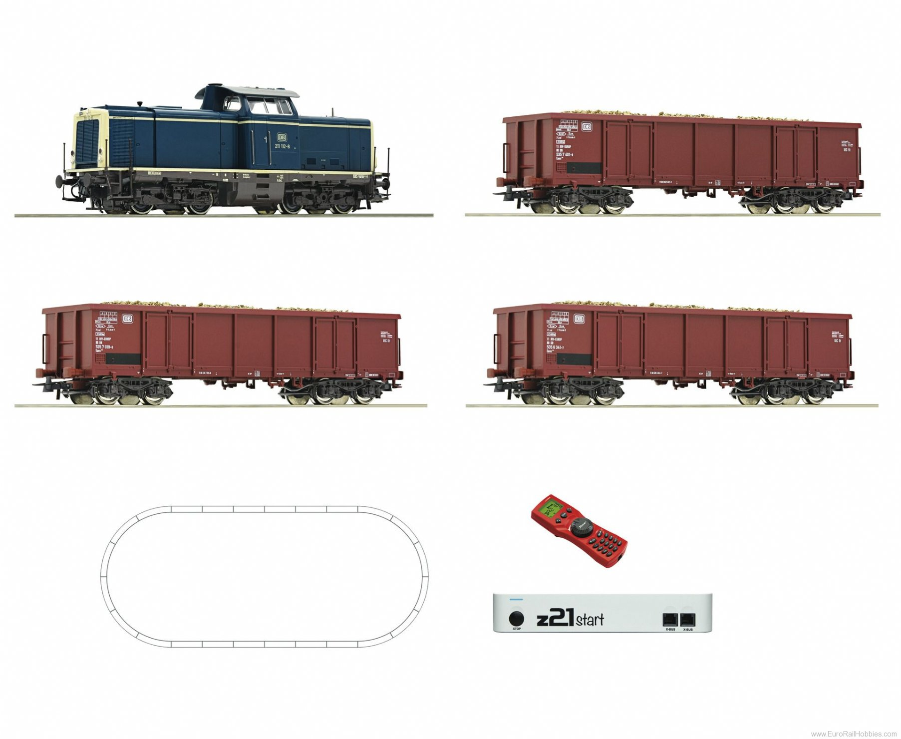Roco 51299 Digital z21® start Set: Diesel locomotive