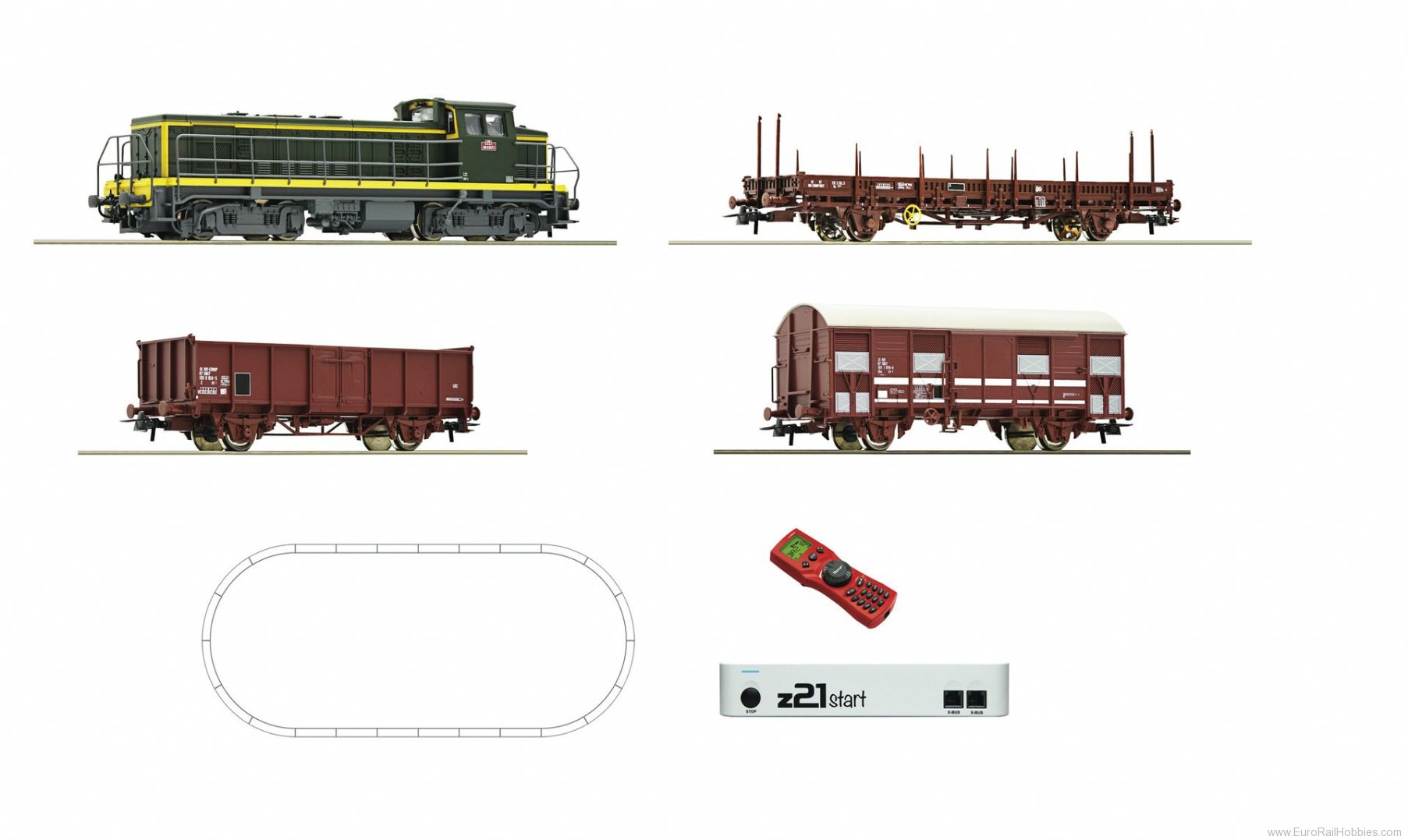 Roco 51300 Digital z21® start Set: Diesel locomotive