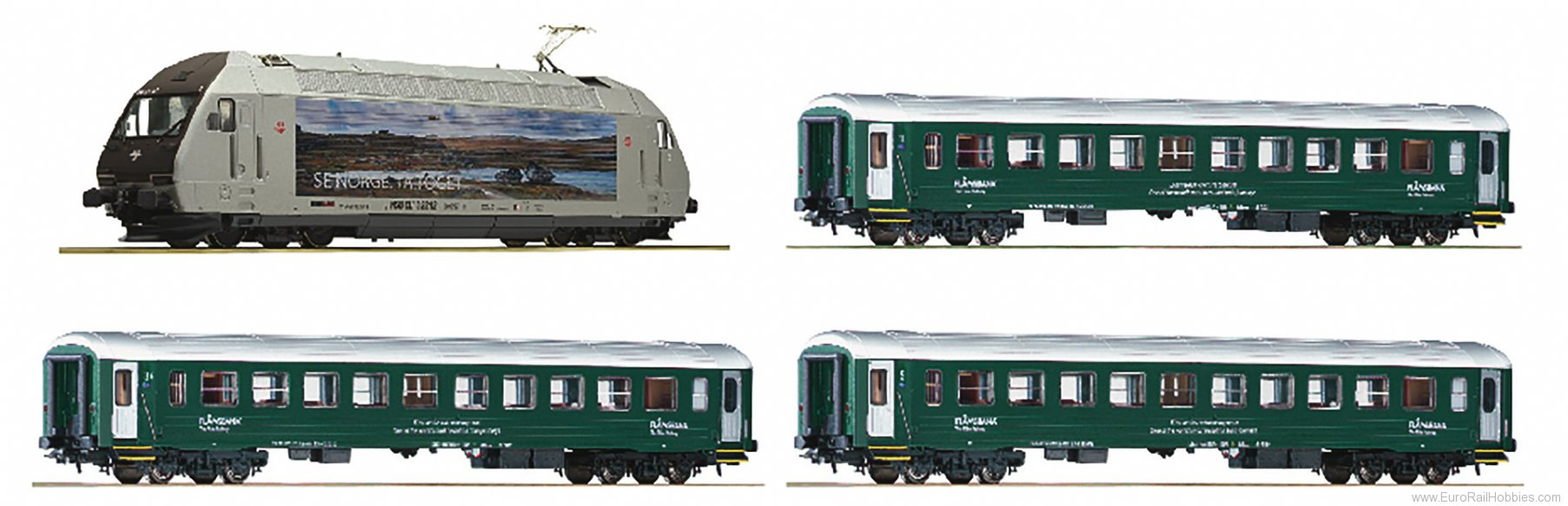 Roco 61451 Set: Electric locomotive EL 18 + passenger ca
