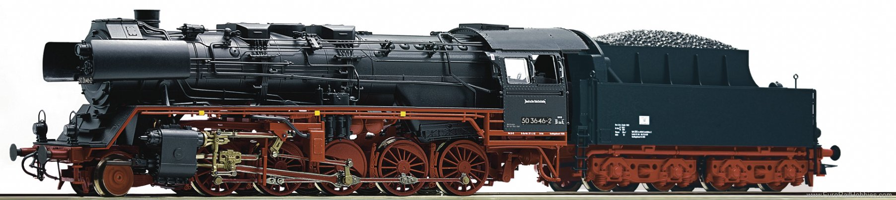 Roco 62169 Steam locomotive 50 3646, DR (Digital Sound)