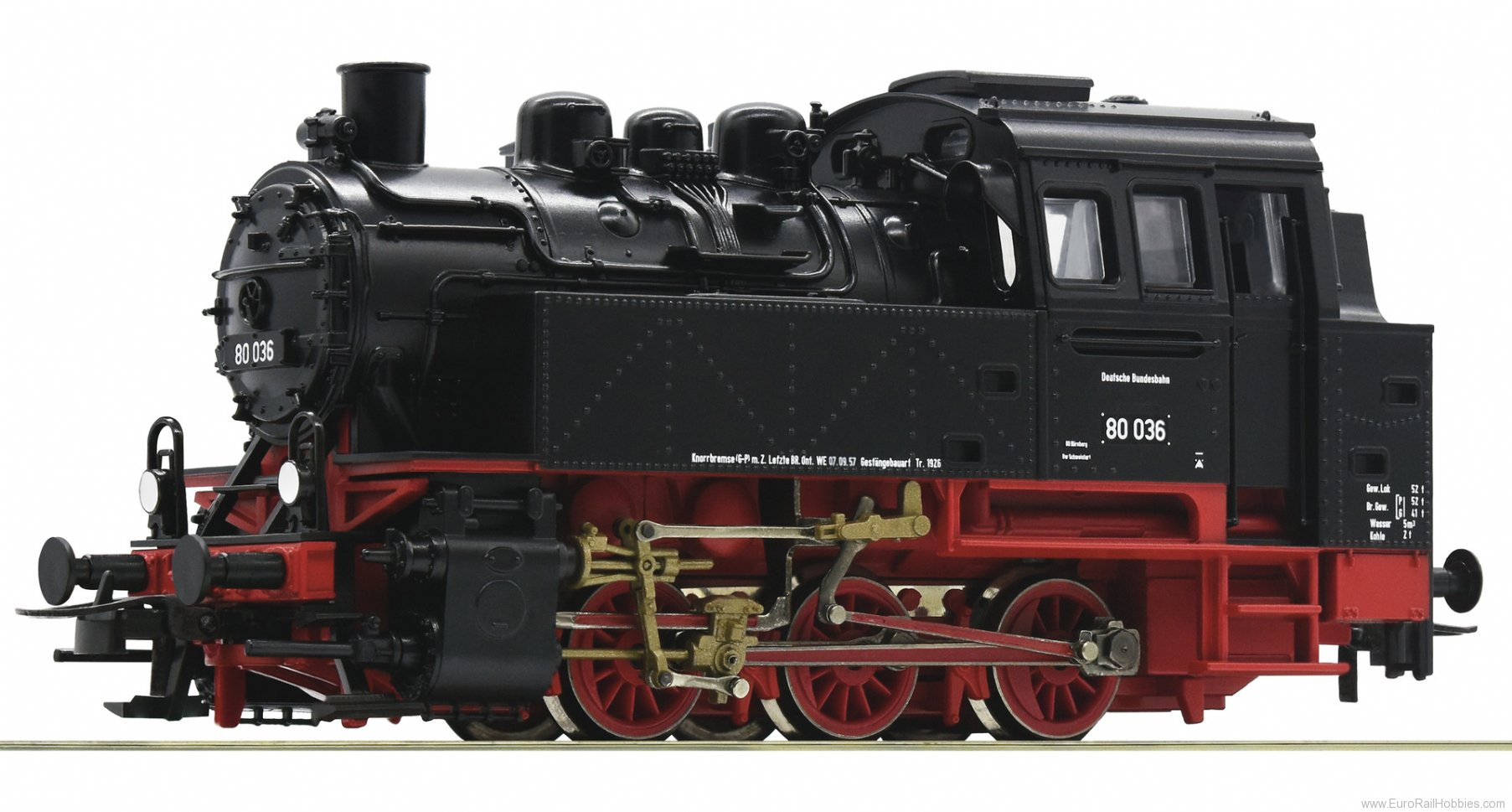 Roco 63338 steam locomotive class 80, DB