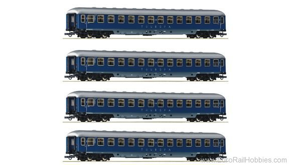 Roco 64187 4-piece wagon set Touropa, DB
