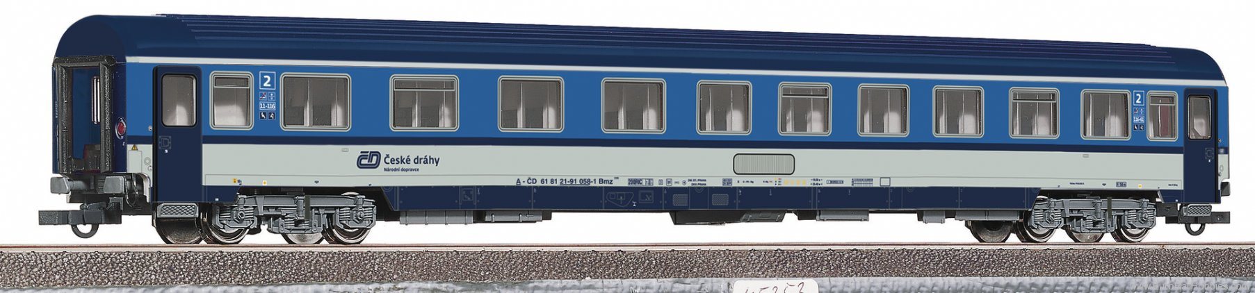 Roco 64644 2nd class passenger carriage, CD