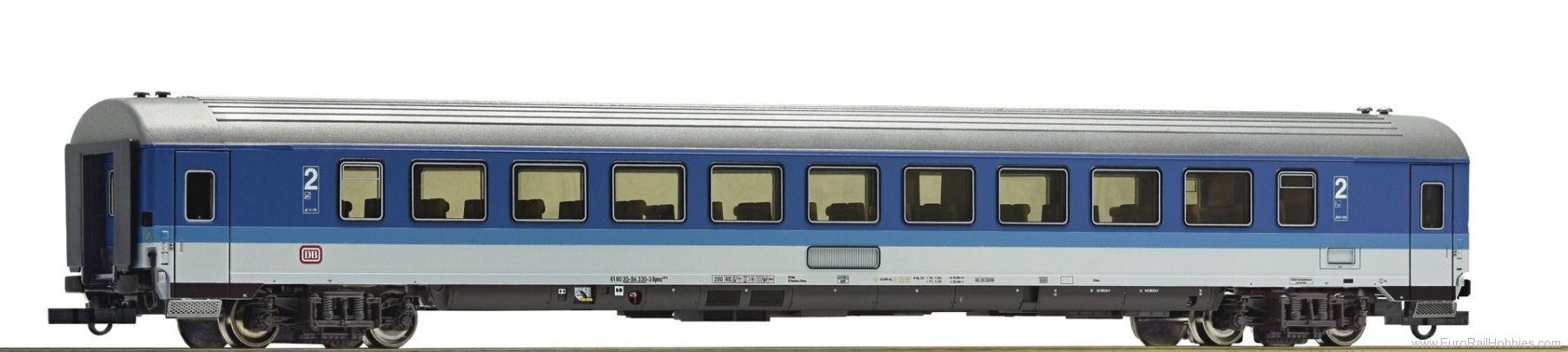 Roco 64927 2nd class express train wagon, DB