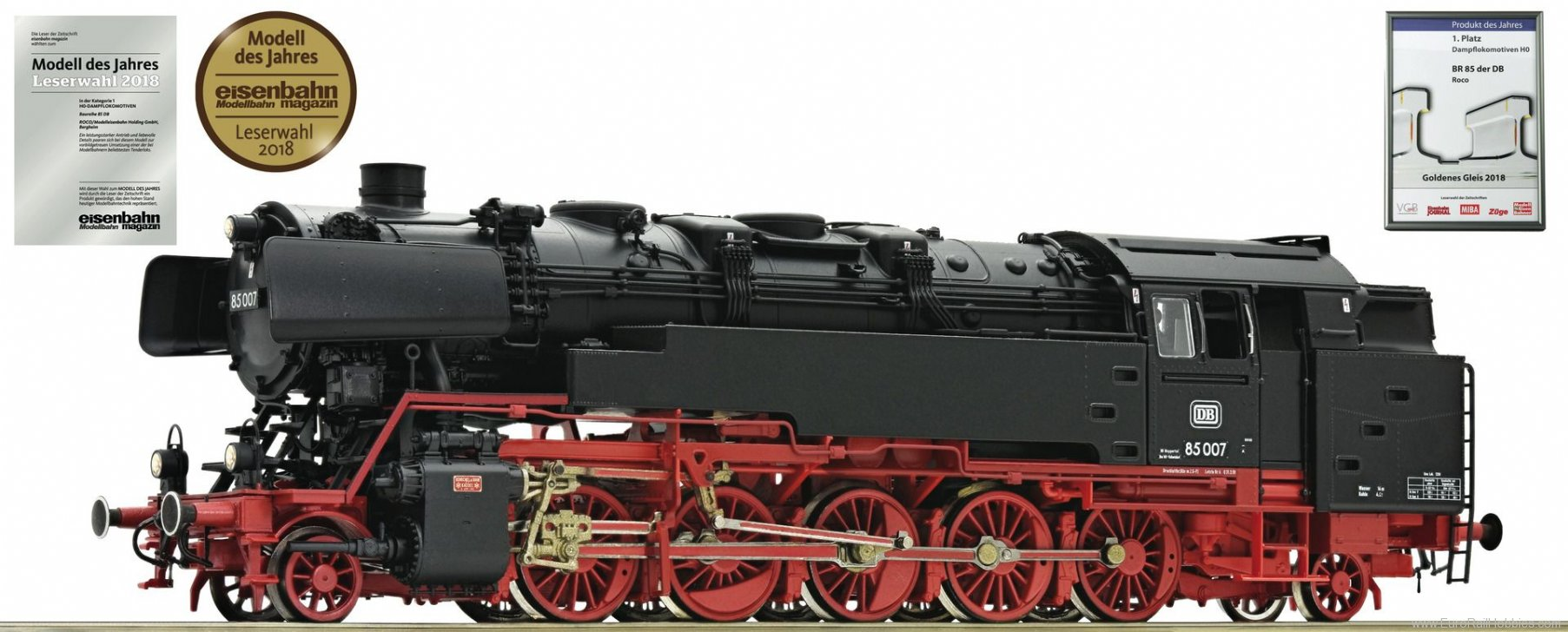 Roco 72270 DB Steam locomotive BR 85 007 of the German F