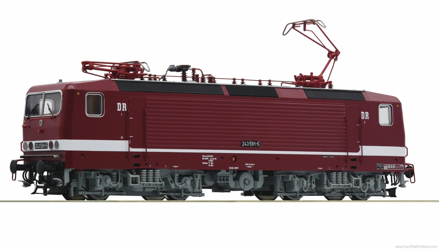 Roco 73063 DR 243 591-5 Electric Locomotive DCC w/Sound