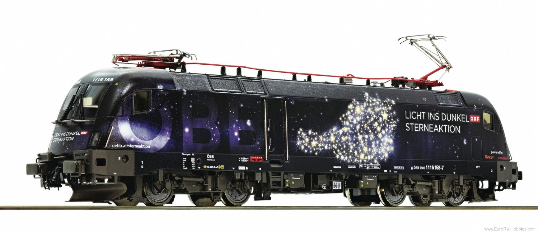 Roco 73238 Electric locomotive 1116 158 'Licht ins Dunke