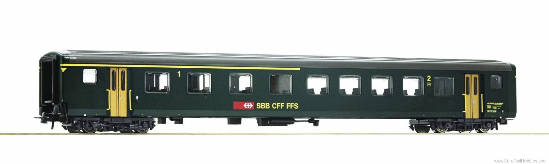 Roco 74570 1st/2nd class fast train coach EW II, SBB