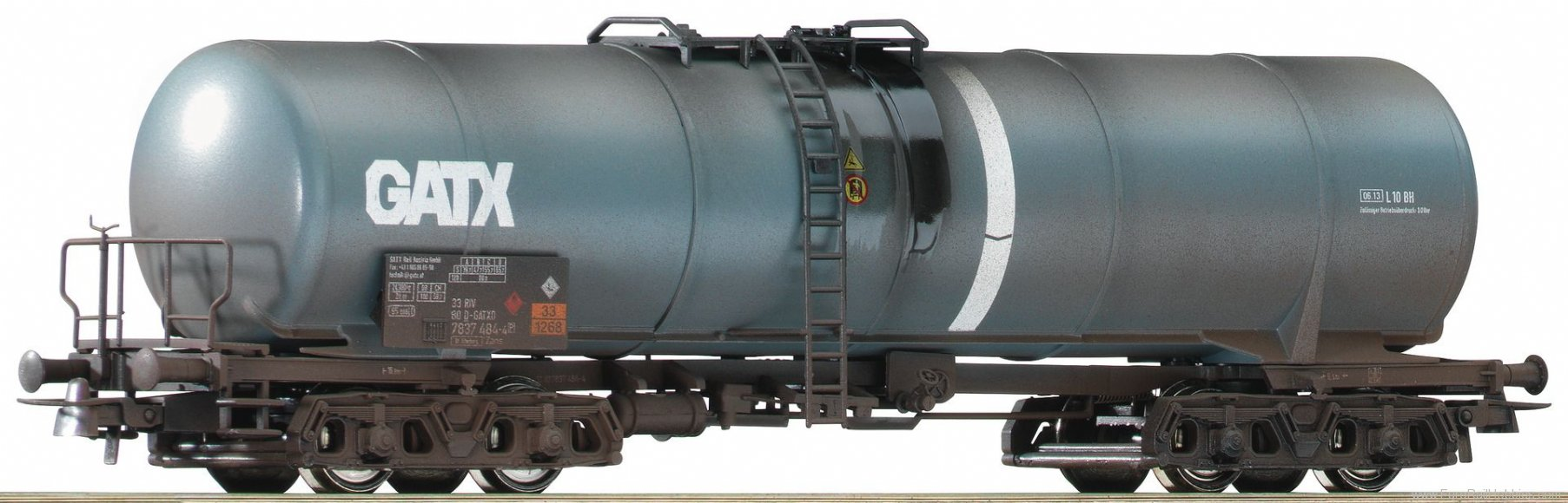 Roco 75976 33807837 127-9, tank wagon weathered, GATX