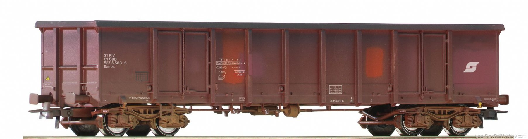 Roco 75989 31815376 502-5, open goods wagon weathered, O