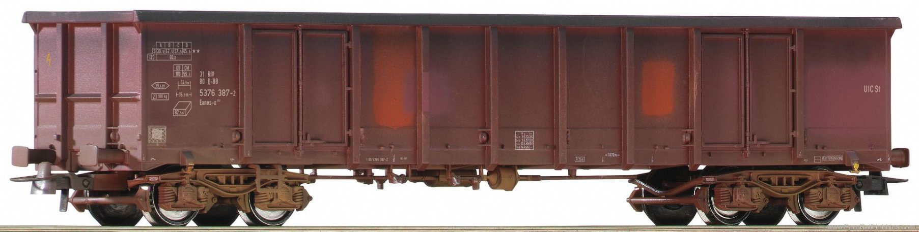 Roco 75999 31805376 385-6, open goods wagon weathered, D