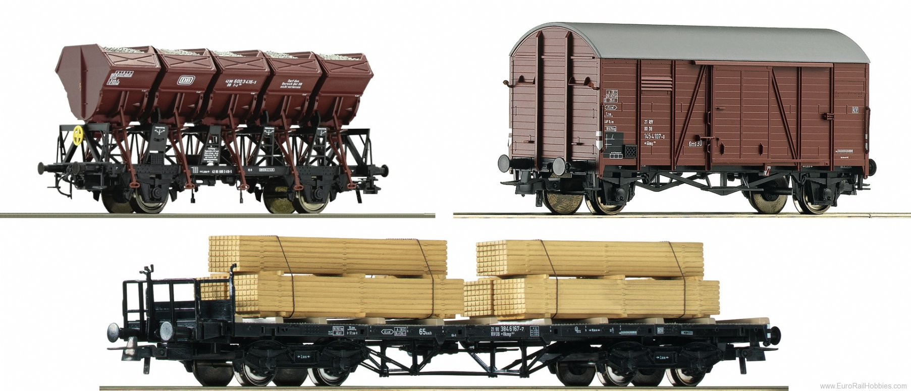 Roco 76167 3 piece set goods train 'Hollental' - Set 2