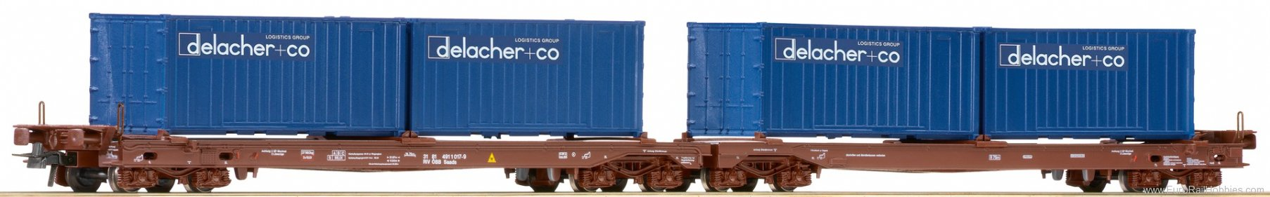 Roco 76835 Double tipping goods wagon, OBB