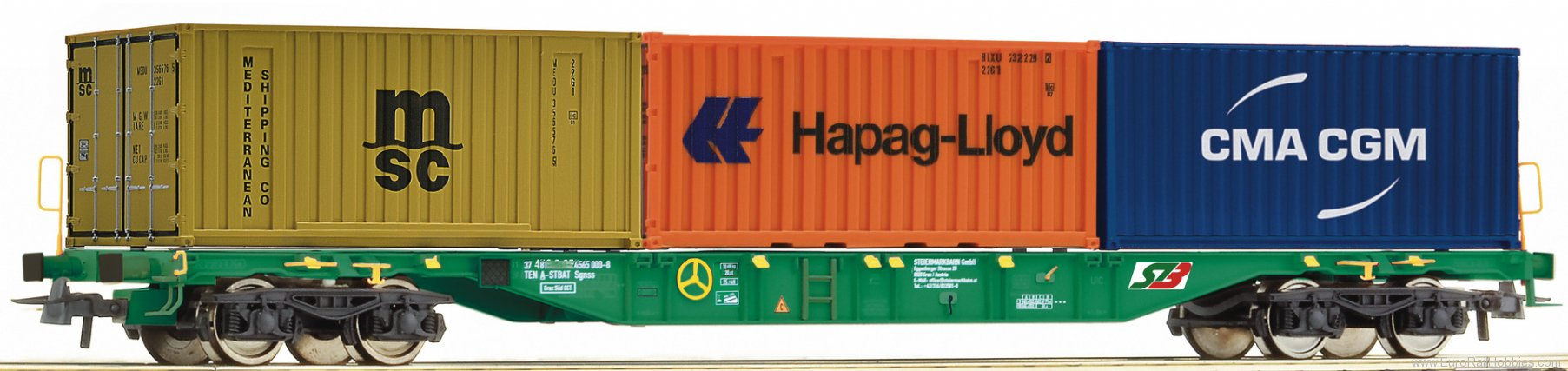 Roco 76917 Container carrier wagon, STB