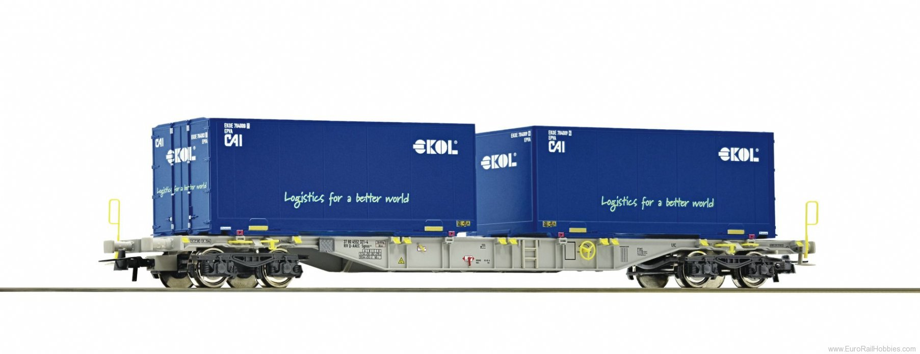 Roco 76947 Container carrier wagon, AAE