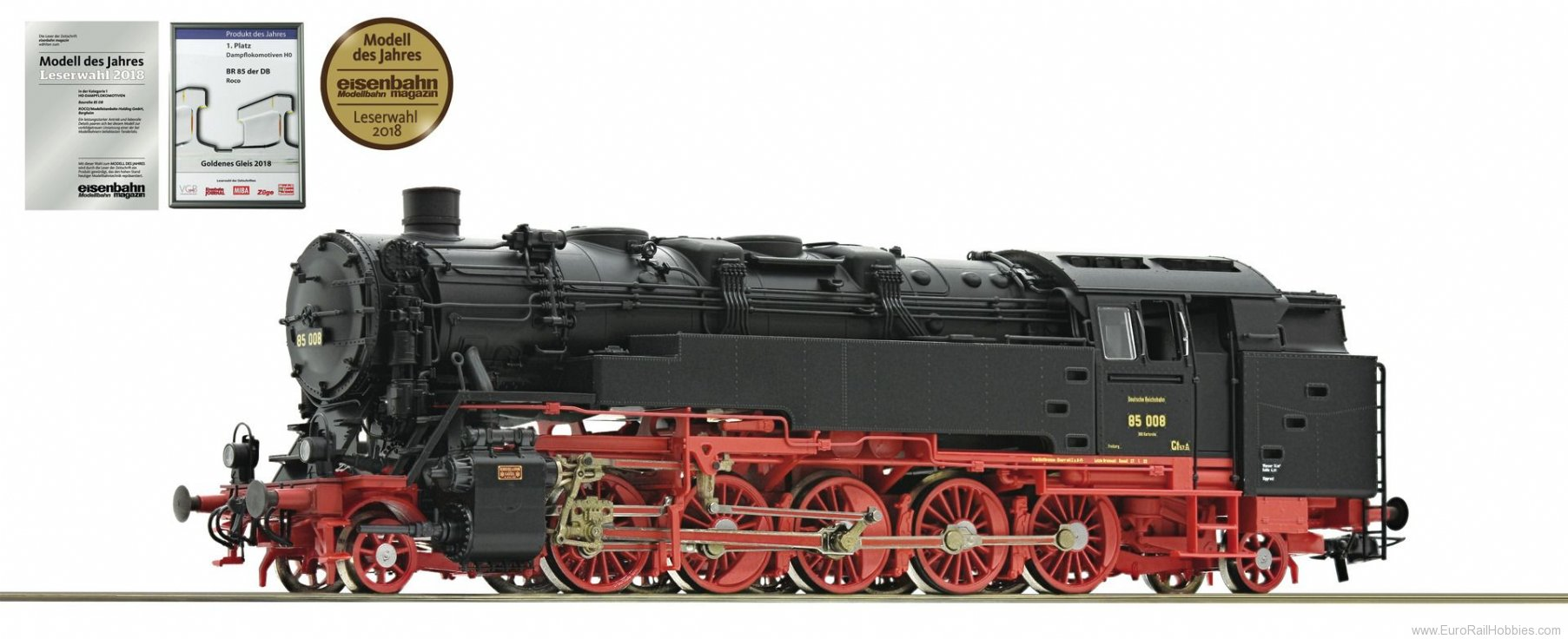 Roco 78262 DRG 85 008 Steam Locomotive (Marklin AC Digit