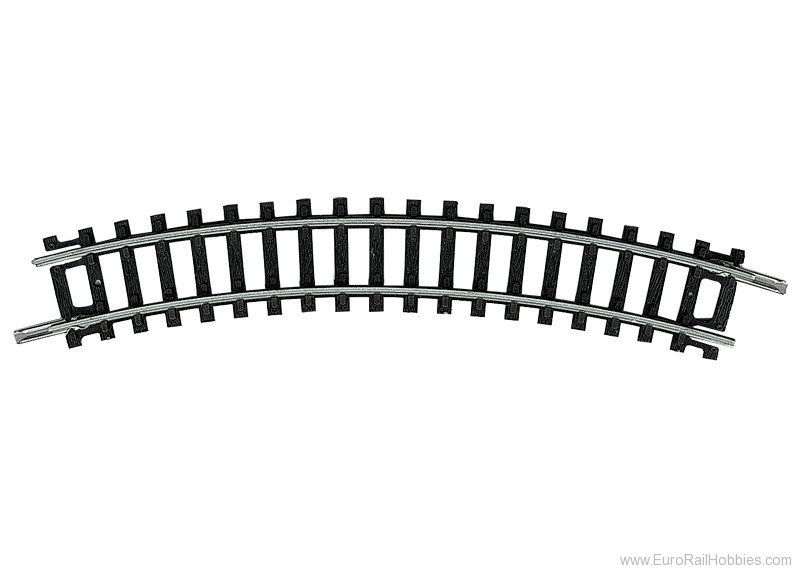 Minitrix 14912 Curve Track - 30 degree R1 (Black ties) PK/10