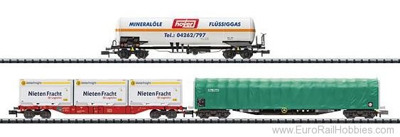 Minitrix 15303 Modern Freight Transport Car Set